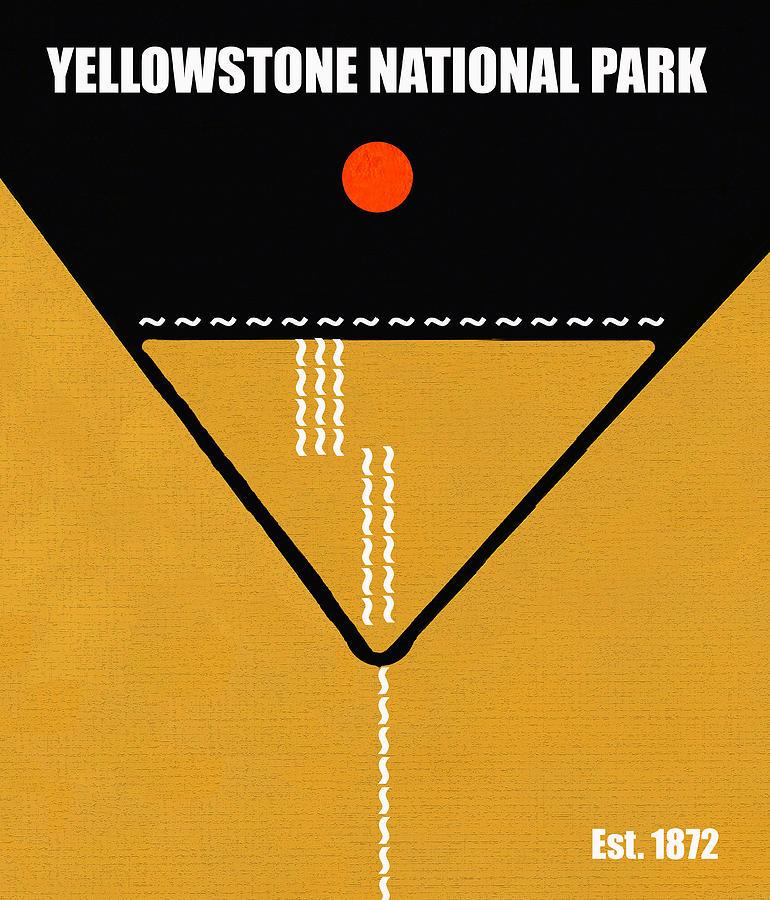 Artwork Mixed Media - Yellowstone N.p. M Series by David Lee Thompson