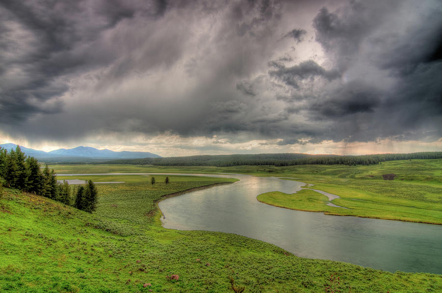 Yellowstone River In Hayden Valley Photograph by Kevin A Scherer