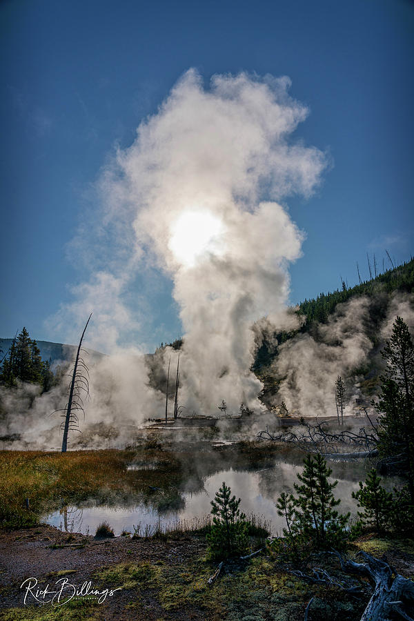 Yellowstone Sunrise Geyser No 1082 by Rick Billings