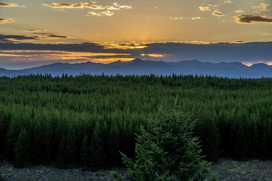 Yellowstone Sunset 2 by Rick Billings
