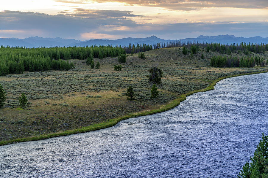 Yellowstone Sunset River 2 by Rick Billings