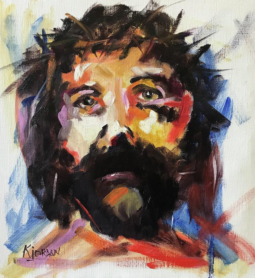 Jesus Painting - Yeshua by Karen Jordan