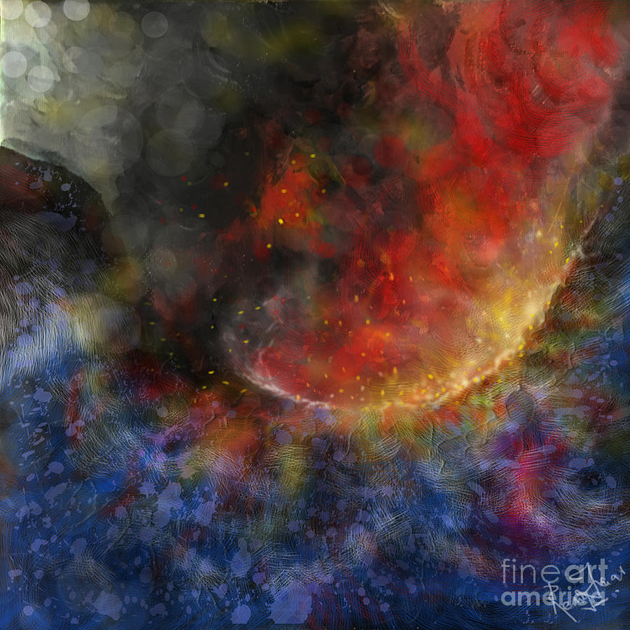 Fire And Water Painting - Ying Yang Fire and Water by Remy Francis