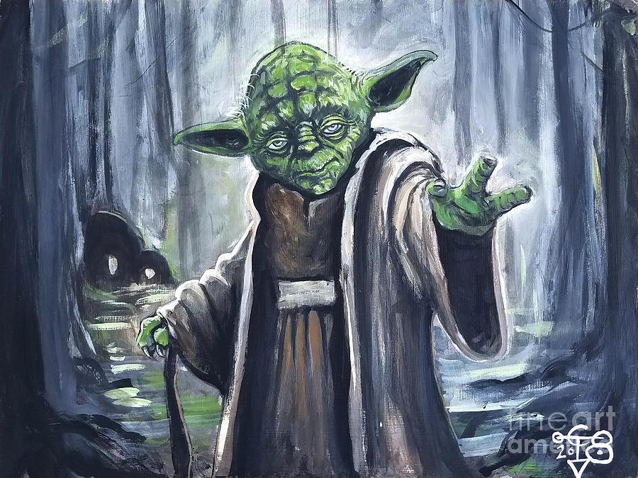 Yoda on Dagaboh by Tom Carlton