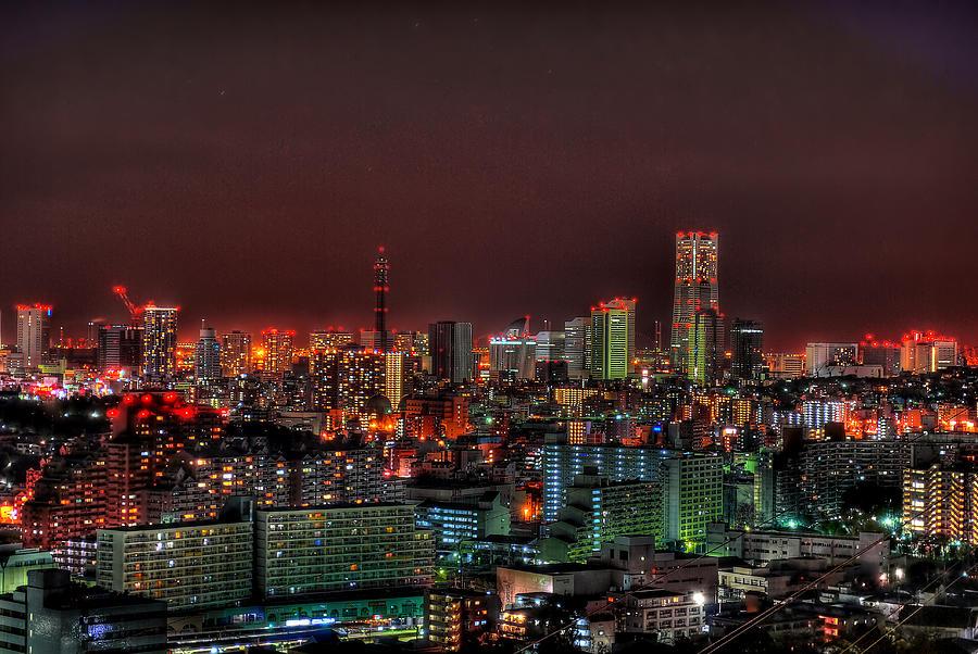 Yokohama Cityscape Photograph by Copyright Artem Vorobiev