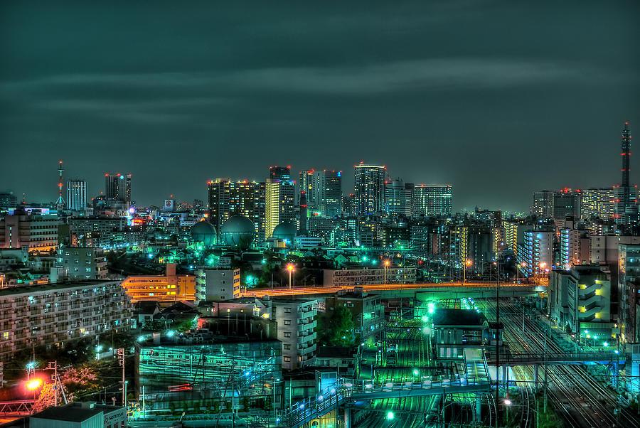 Yokohama Night Photograph by Copyright Artem Vorobiev