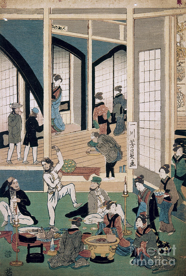Yokohama Restaurant, 1861 by Granger