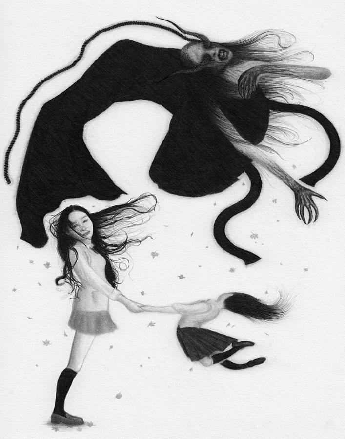 Horror Drawing - Yonokaze - Artwork by Ryan Nieves