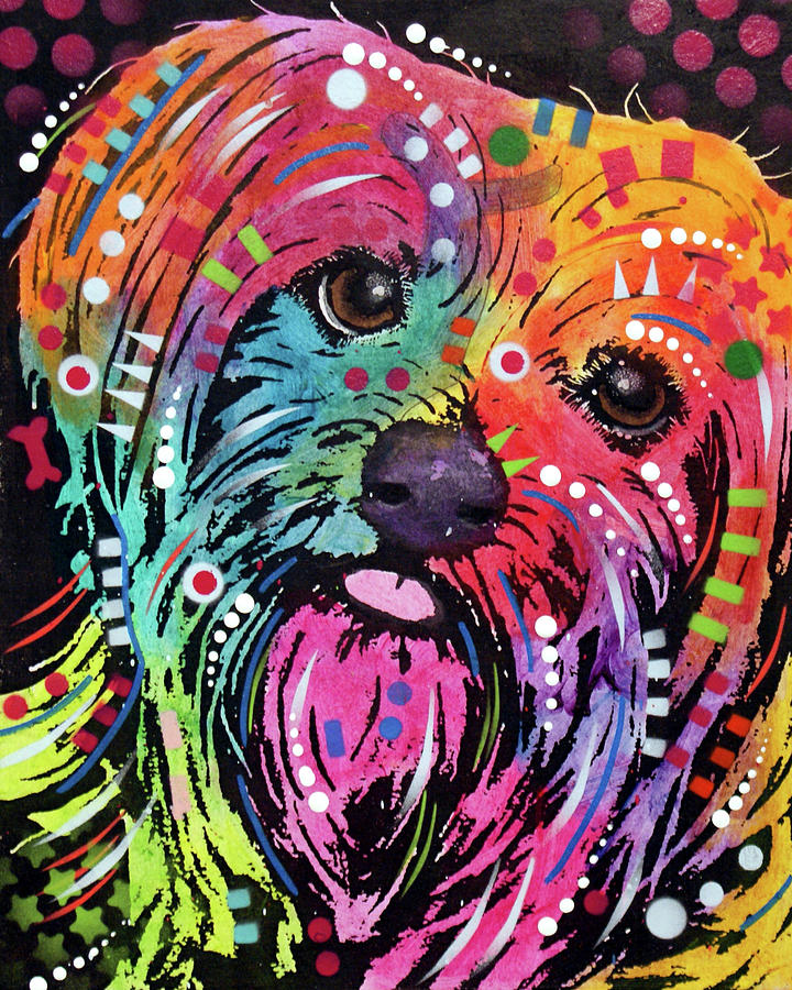 Yorkie Mixed Media - York II by Dean Russo