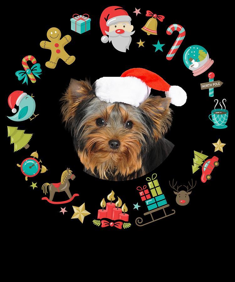 Yorkie Santa Yorkshire Terrier Dog Christmas Ornaments ...