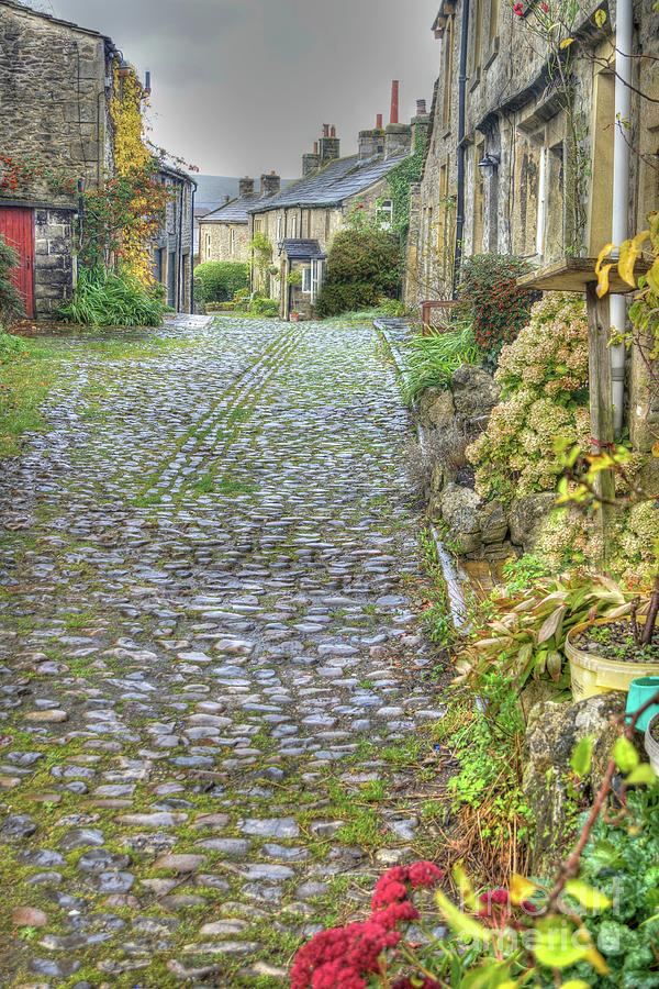 Yorkshire Dales Cobbled Street by David Birchall