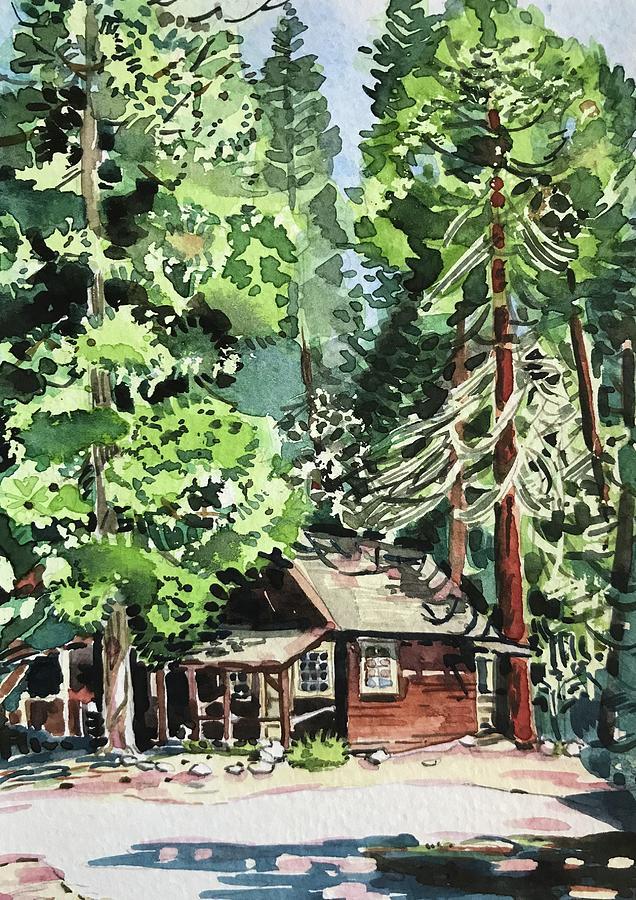 Yosemite Cabin - Wawona Painting