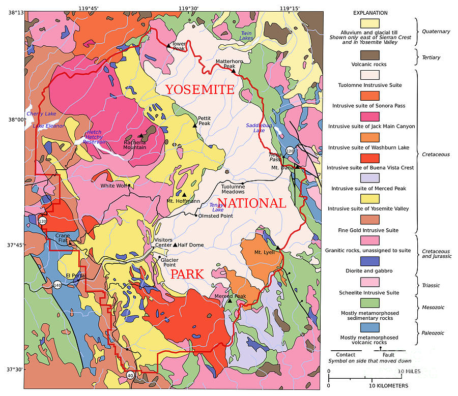 Yosemite National Park Contemporary Geological Map on geological map of ohio, northwest coast of us, geological map of africa, geological map of mexico, geological map of asia, geological faults in georgia, geological map of north america, geological map of italy, southernmost point of us, geological map of england, geological survey maps, geological map of europe, geological map of canada,