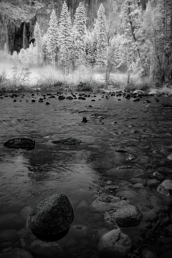 Yosemite Photograph - Yosemite River In Bw by Jon Glaser