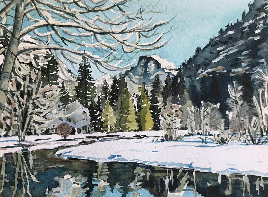 Yosemite Valley - December Painting