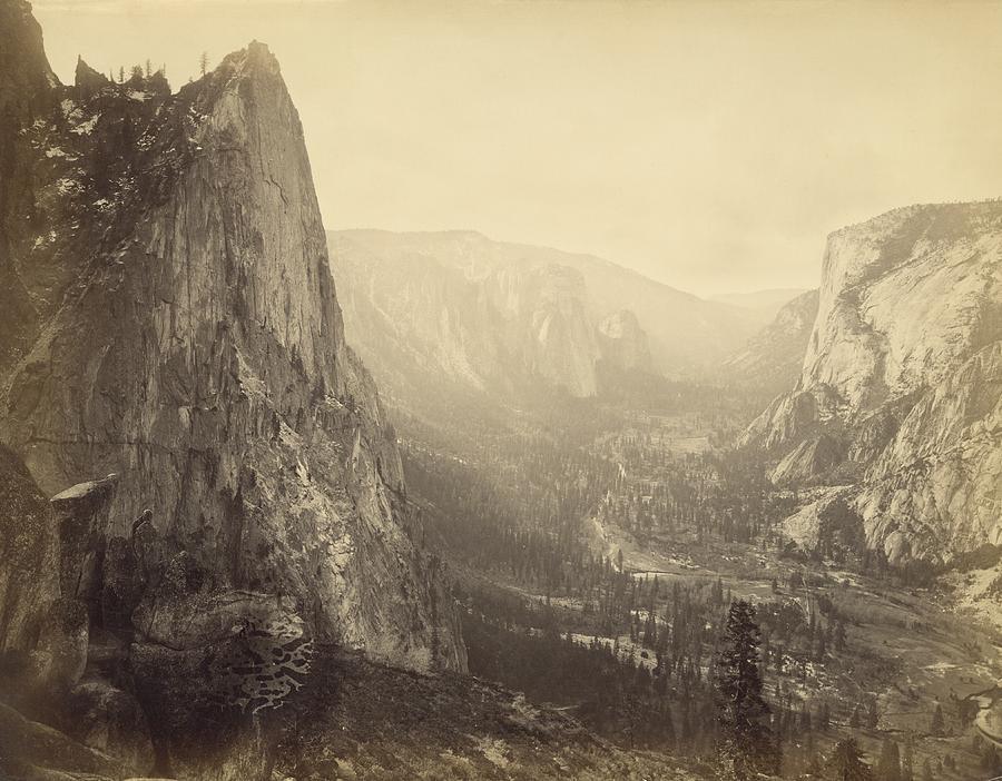 Yosemite Valley Photograph by Carleton E. Watkins