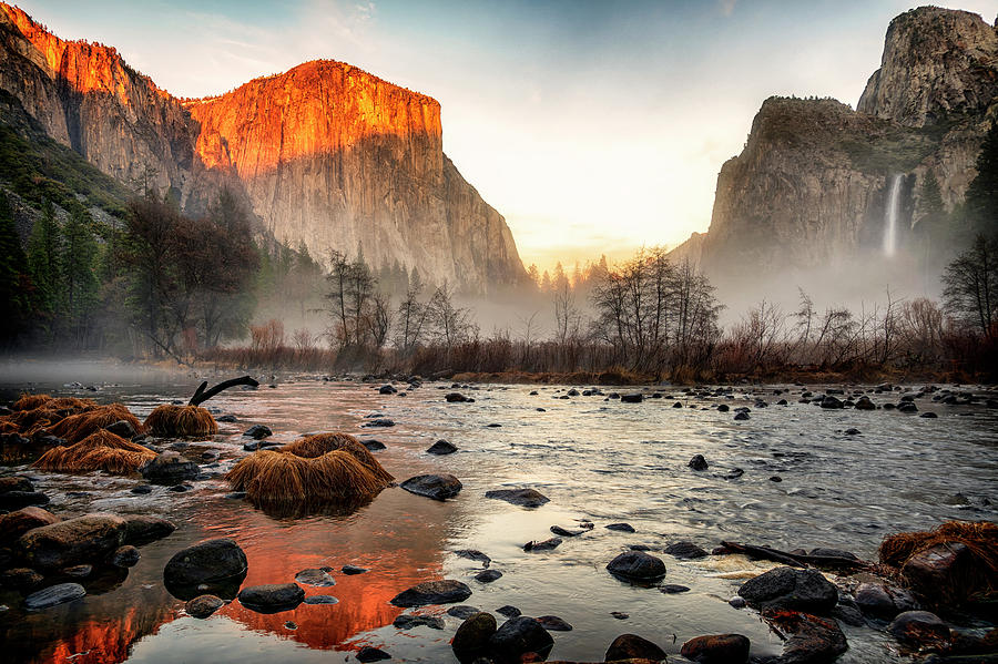 Yosemite Valley View at Sunset GRK1455_12182018--01-19-2019  by Greg Kluempers