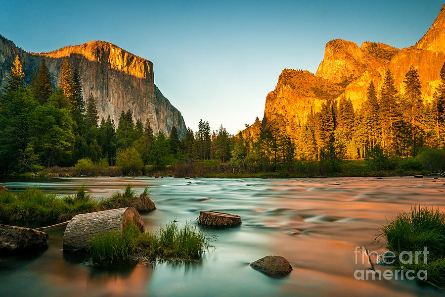 Sky Photograph - Yosemite Valley View Sunset by Mohamed Selim