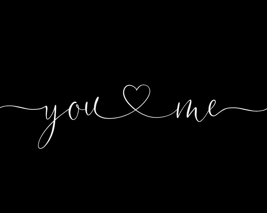You and Me White on Black by Terry DeLuco