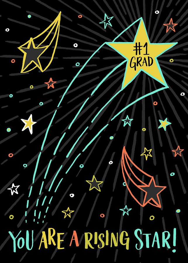 You Are A Rising Star Grad Card by Jen Montgomery
