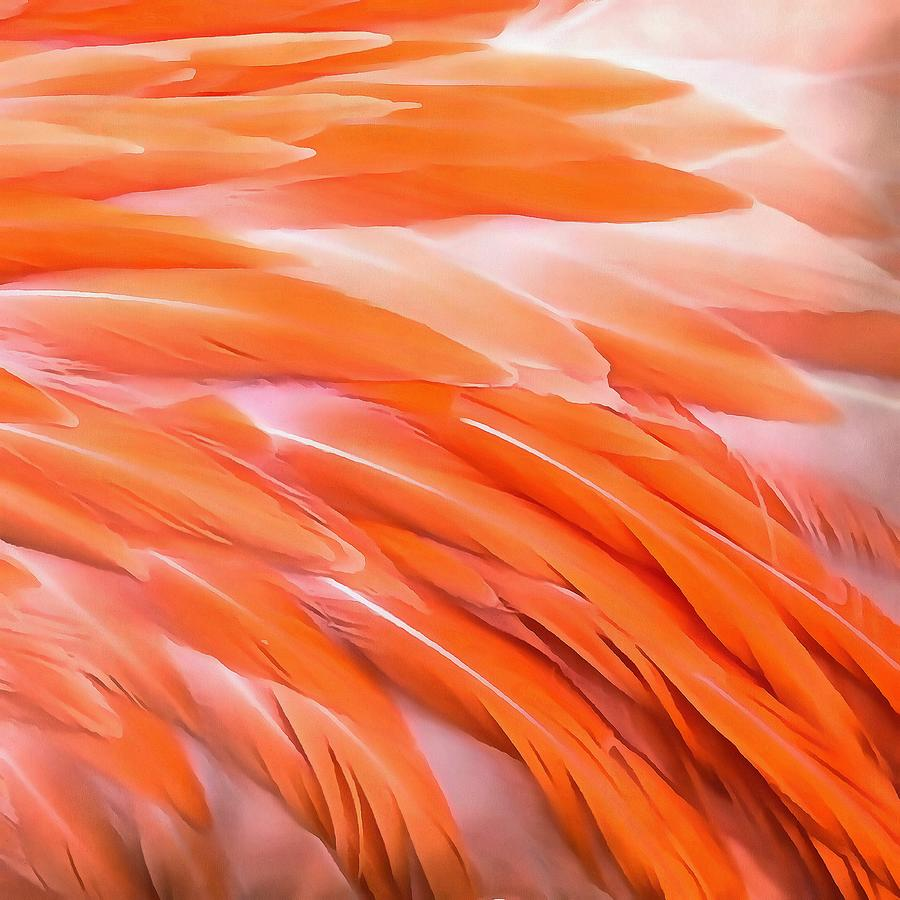 You Are What You Eat Flamingo Feathers by Taiche Acrylic Art