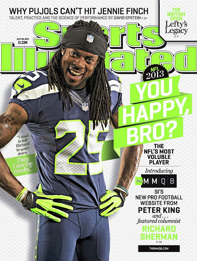 You Happy, Bro The Nfls Most Voluble Player Sports Illustrated Cover Photograph by Sports Illustrated
