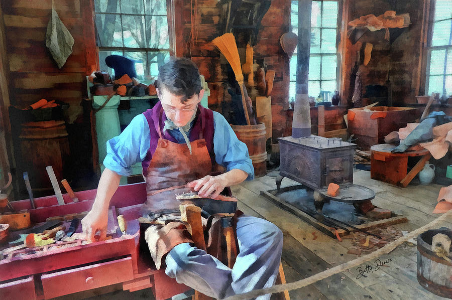 Young Apprentice Shoemaker by Betty Denise