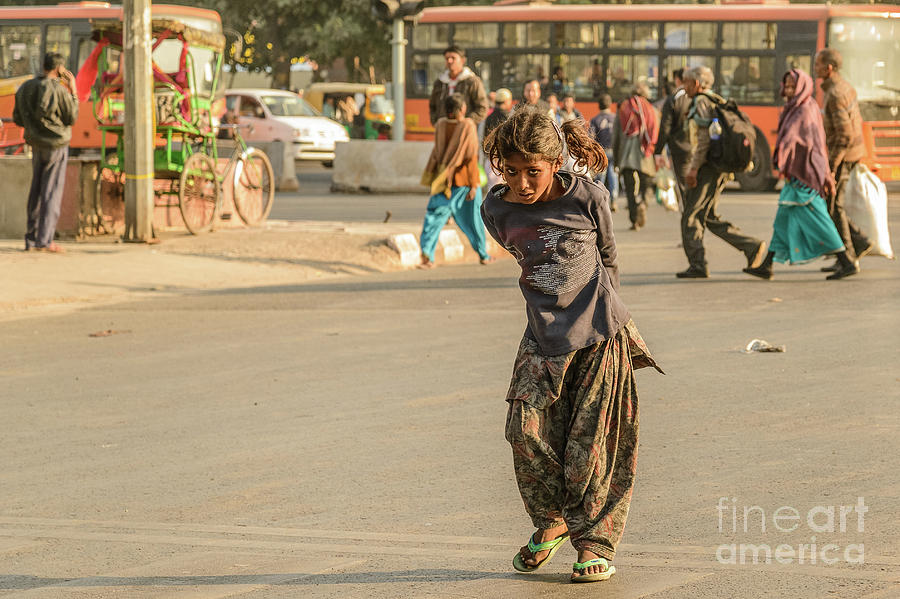 Young Beggar Girl 02 by Werner Padarin