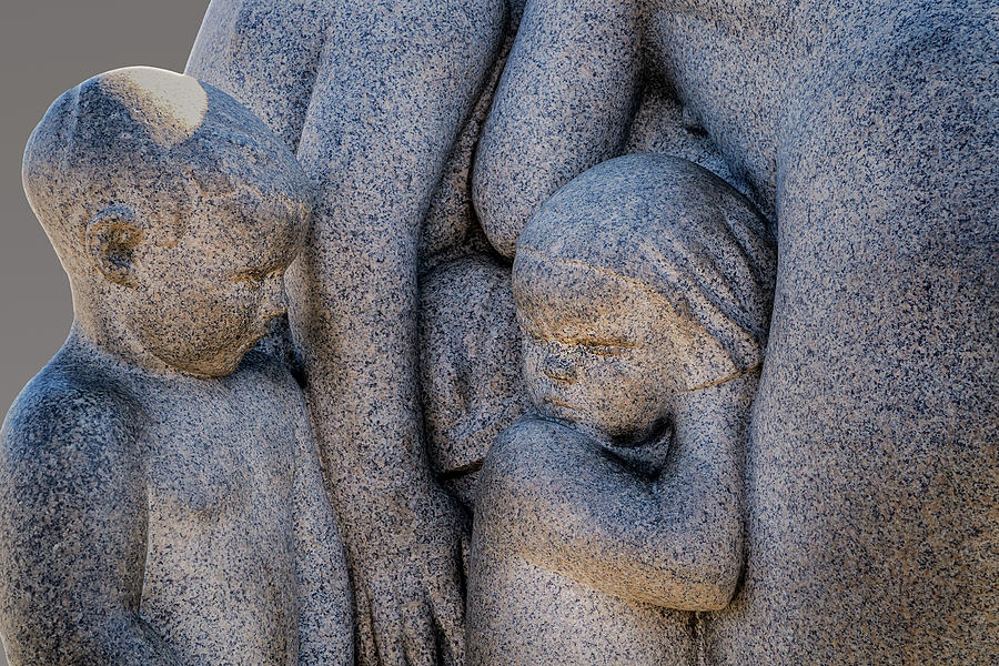 Young Chidren in a Vigeland Sculpture by Phil Cardamone