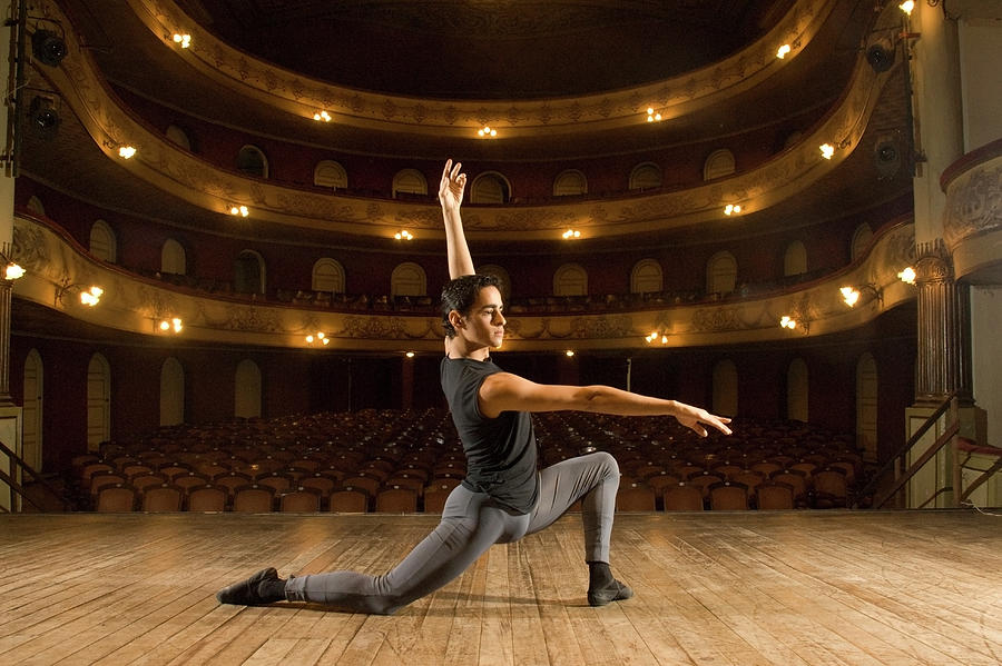 Young Dancer Posing On Stage Photograph by Hans Neleman