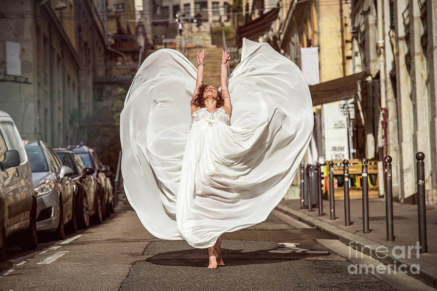 Young Female Dancer In The Streets Photograph by Yanis Ourabah