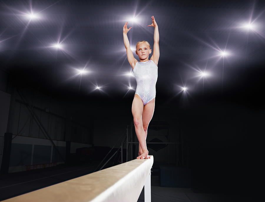 Young Female Gymnast Performing On Photograph by Robert Decelis Ltd