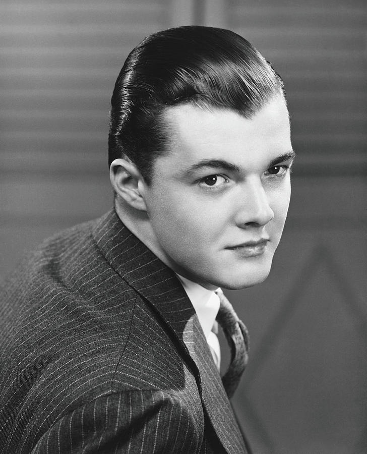Young Man Wearing Pinstripe Jacket Photograph by George Marks