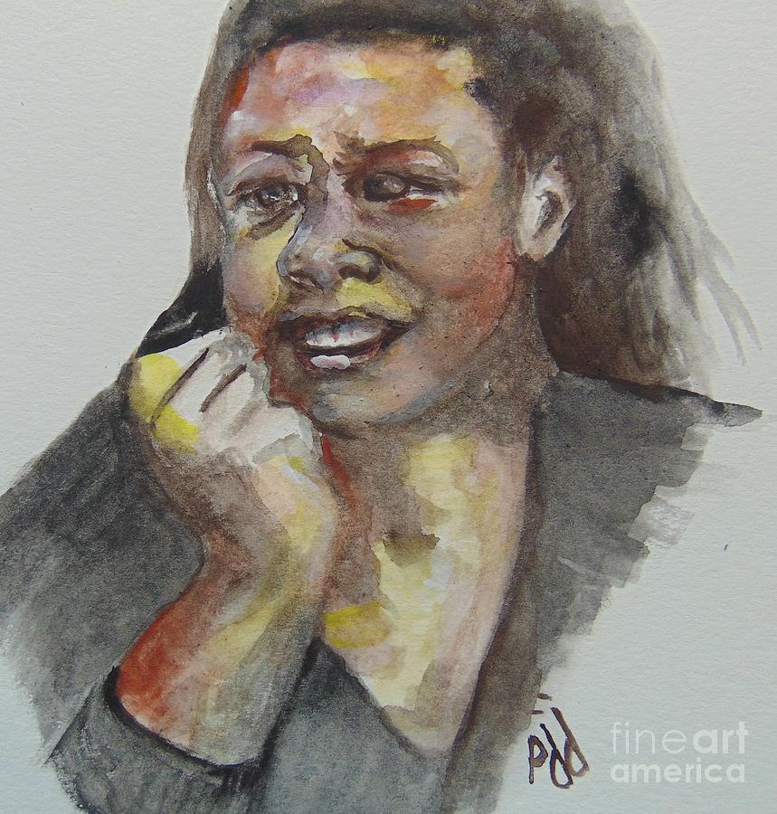 Young Maya by Saundra Johnson