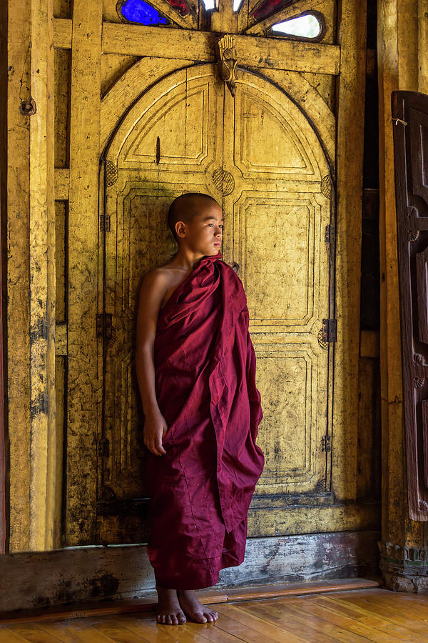 Young Monk by Lindley Johnson