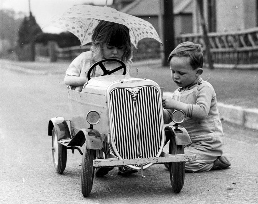 Young Motorists Photograph by Fox Photos