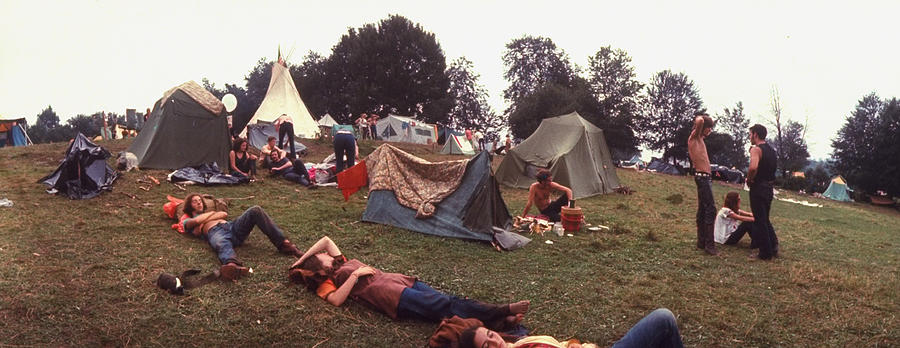 Young People Camping Out W. Tents On A G Photograph by John Dominis