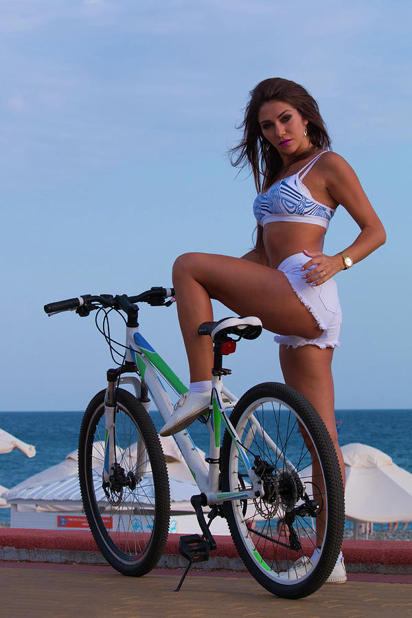 Sexy girl on bike
