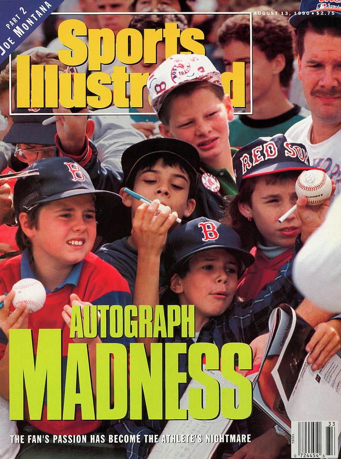 Young Sports Fans Autograph Madness Sports Illustrated Cover Photograph by Sports Illustrated