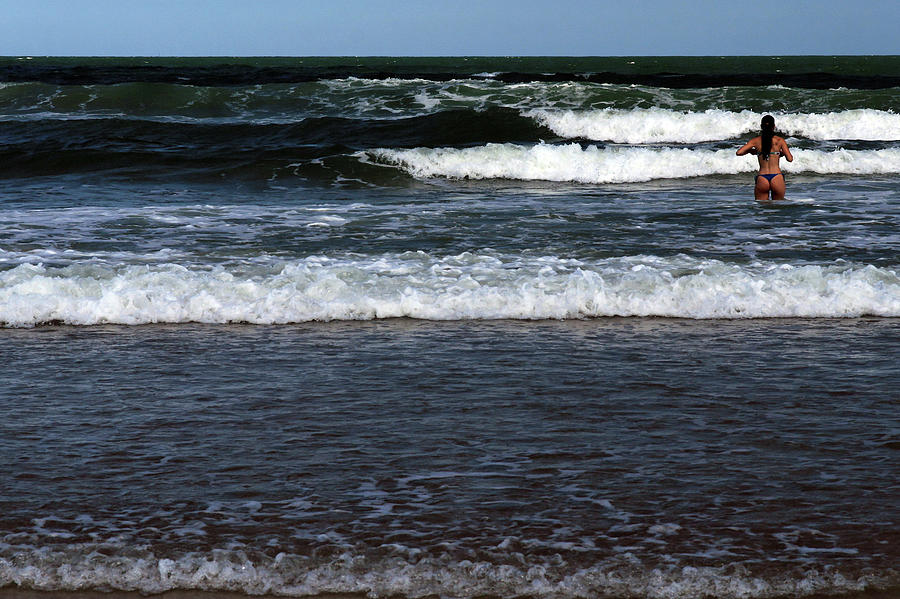 Young Woman And Waves Photograph by C. Quandt Photography