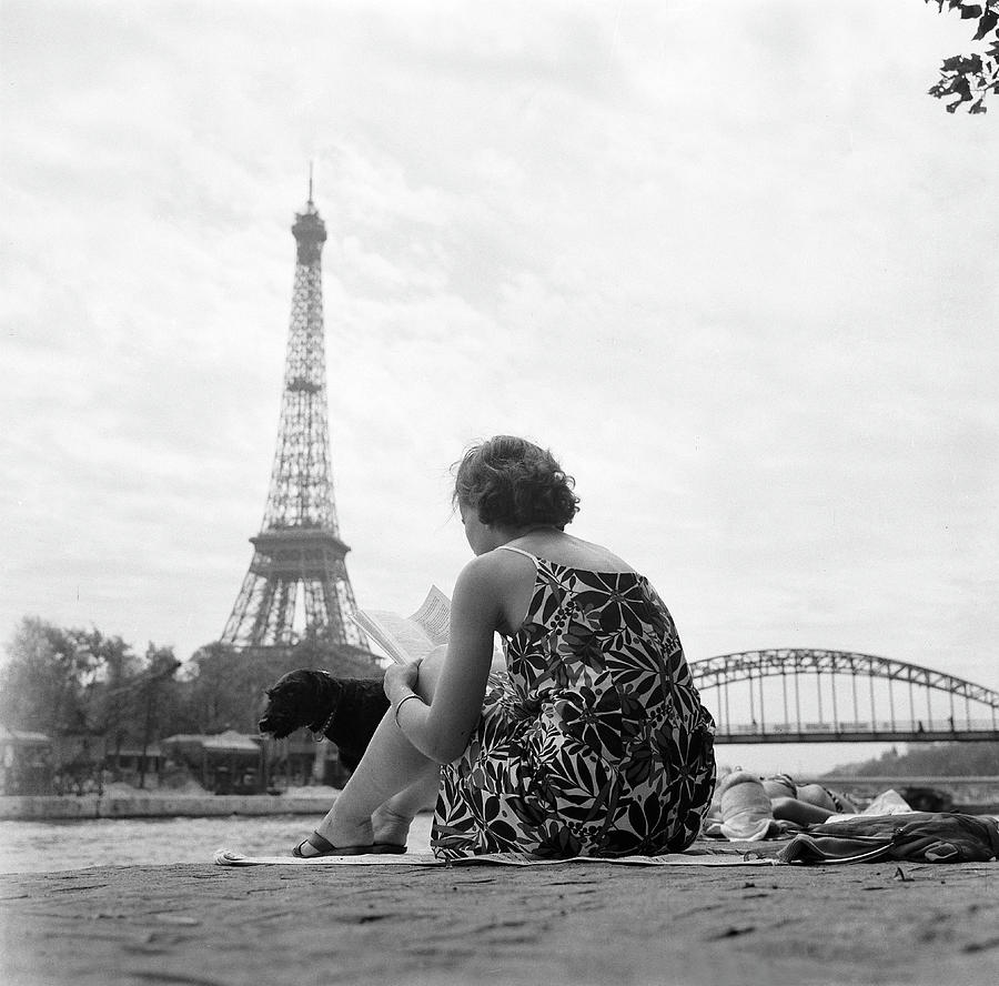 Young Woman Taking In The Sun On The Photograph by Keystone-france