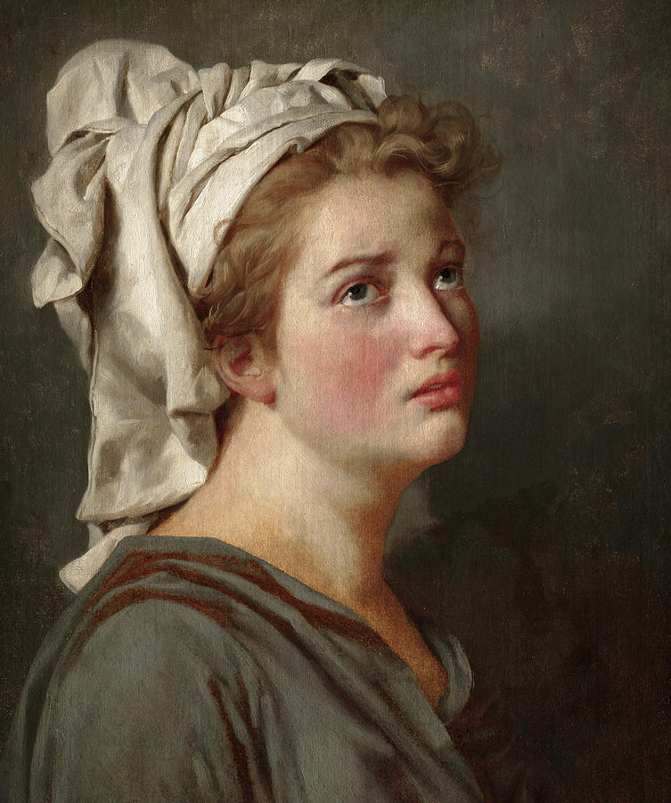 Jacques-louis David Painting - Young Woman With A Turban, 1780 by Jacques-Louis David