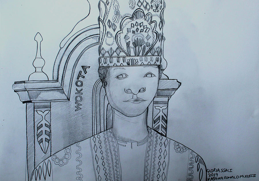 Jesus Christ Painting - Young His Royal Highness Kabaka Ssabasajja Ronald Edward Frederick Kimera Muwenda Mutebi II  by Gloria Ssali