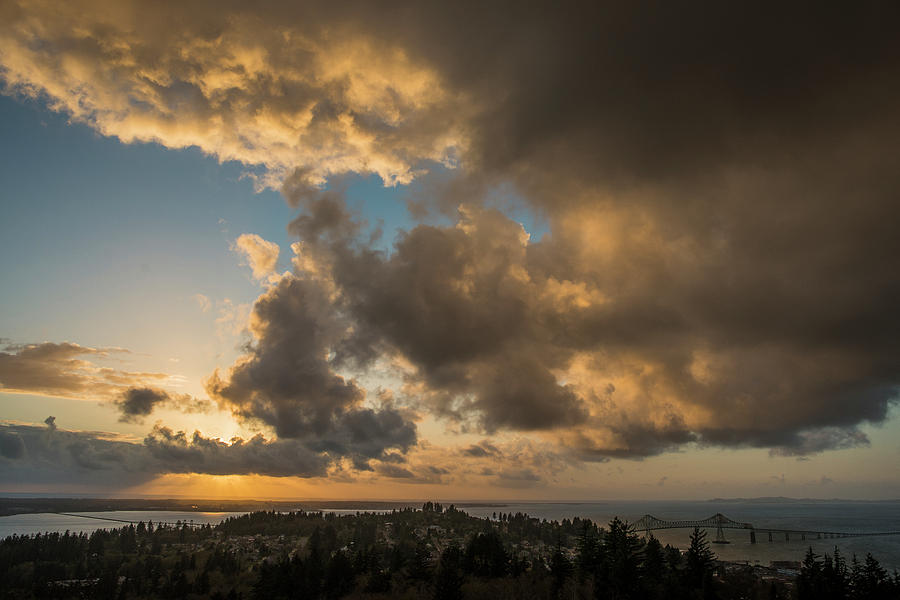 Youngs Bay and Columbia River by Robert Potts