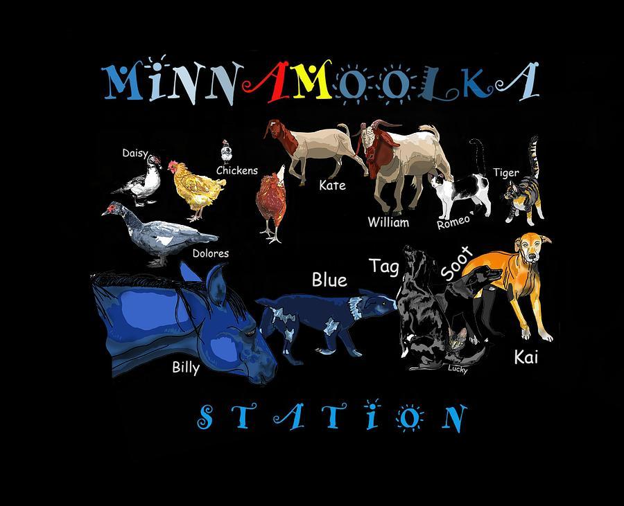 Stratton Digital Art - Your Friends At Minnamoolka Station by Joan Stratton