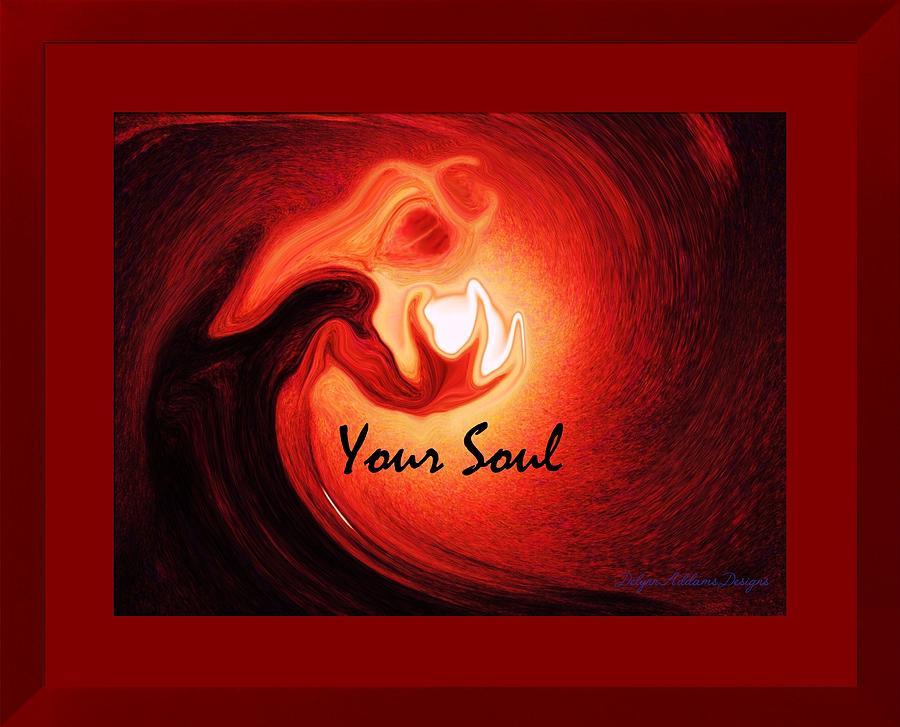 Your Soul Digital Art - Your Soul Holiday Card by Delynn Addams
