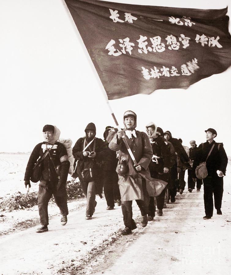 Youths Marching To Peking Photograph by Bettmann
