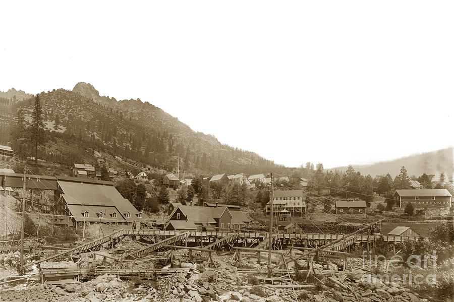 Yuba Mill,  Chlorination plant, Sierra Butttes mill located in Sierra 1890 by California Views Archives Mr Pat Hathaway Archives