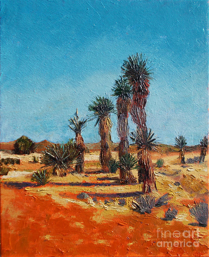 Desert Painting - Yucca Formation by Lilibeth Andre