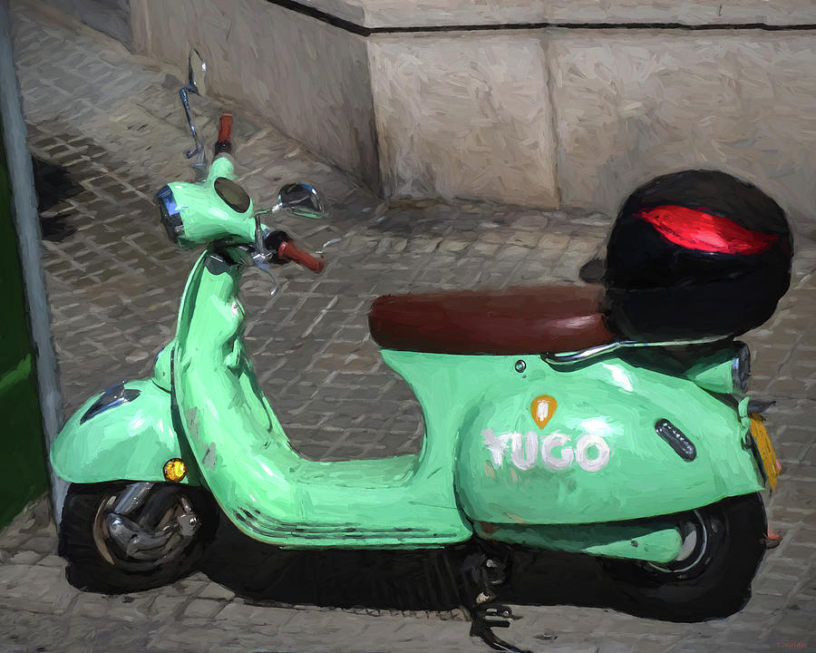 Yugo Electric Scooter Inspired by Van Gogh by TONY GRIDER